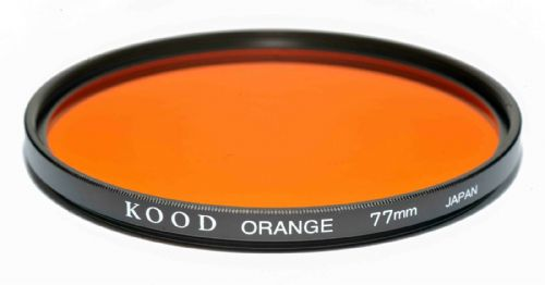 Kood High Quality Optical Glass Orange Filter Made in Japan 77mm
